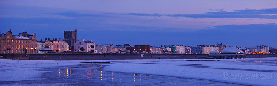 Snow, Dusk, Burnham on Sea