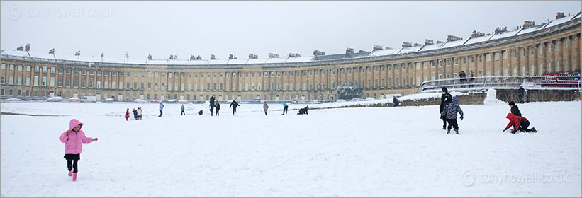 Royal Crescent in the snow