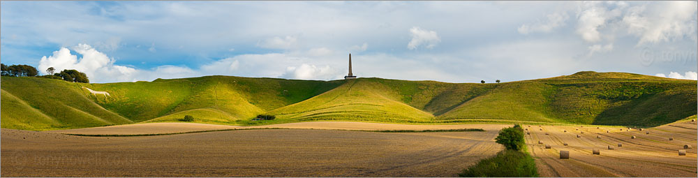 White Horse at Cherhill and Lansdowne Monument