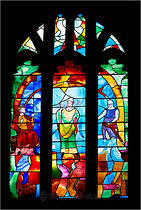 Stained Glass Window, St Thomas a Beckett Church, Box, Wiltshire