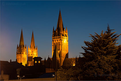 Dusk, Truro Cathedral