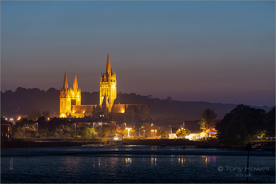 Truro Cathedral, Night, Low Tide