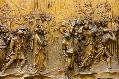 Gold Baptistry Door