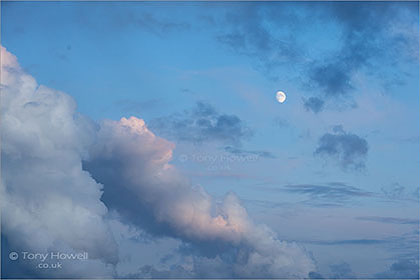 Moon, Clouds