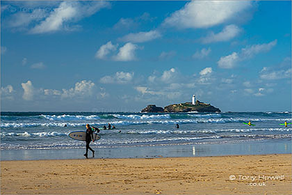 Gwithian-Surfers-Godrevy-Cornwall