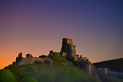 Corfe-Castle-Night