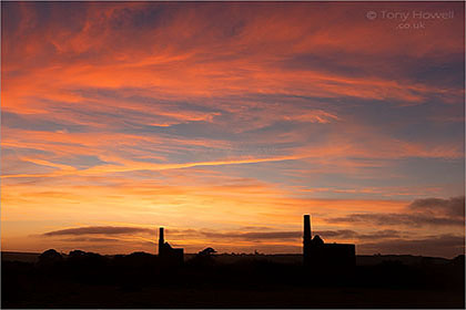 Tin-Mines-Sunset-Great-Flat-Lode-Cornwall