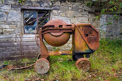 Abandoned-Cement-Mixer-Trewoon-Cornwall