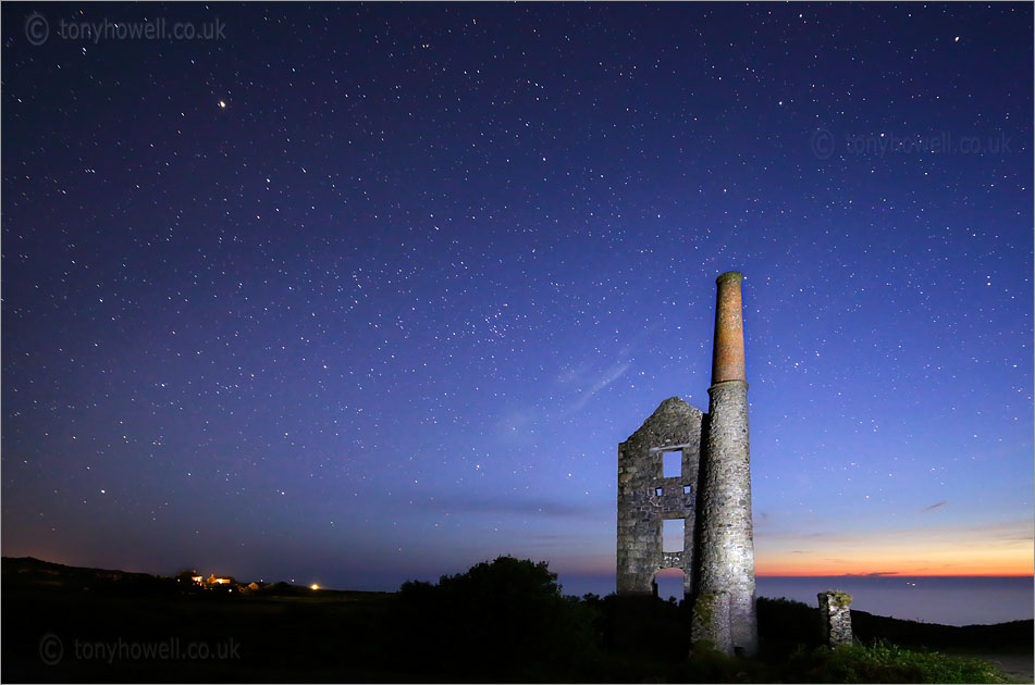 Carn Galver Tin Mine, Night