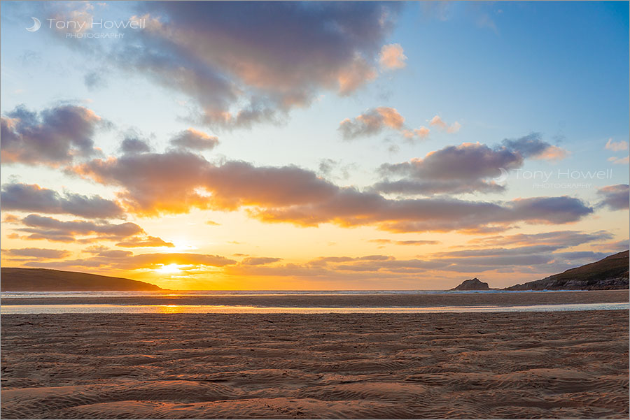 Crantock Beach, Sunset