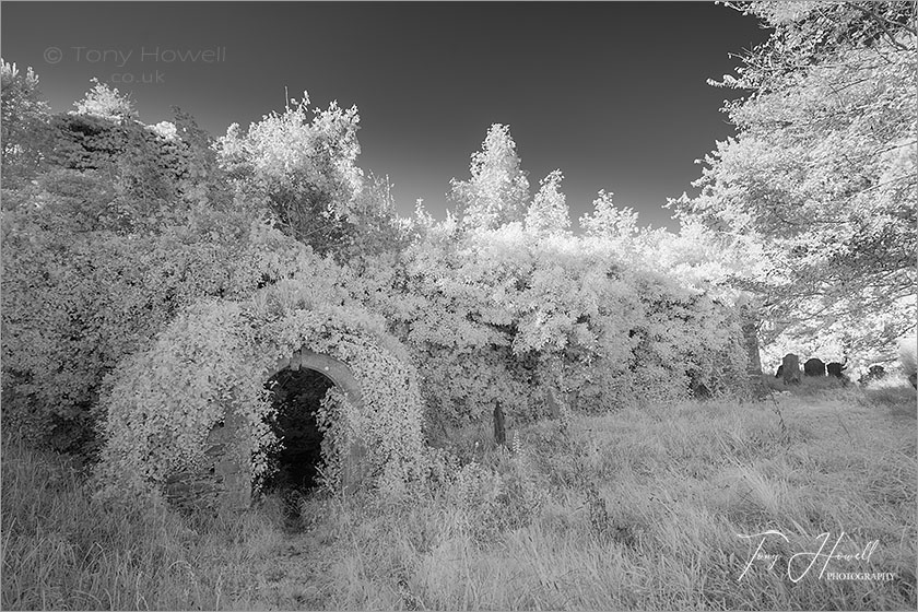 Merther Church (Infrared Camera; makes grass and foliage go white)
