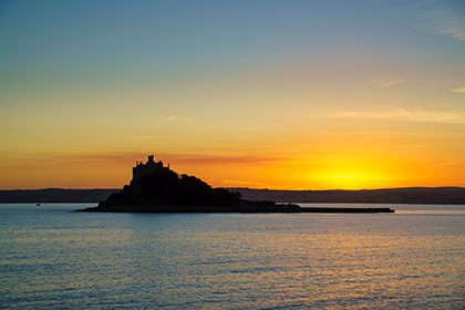 St-Michaels-Mount-Sunset-Cornwall