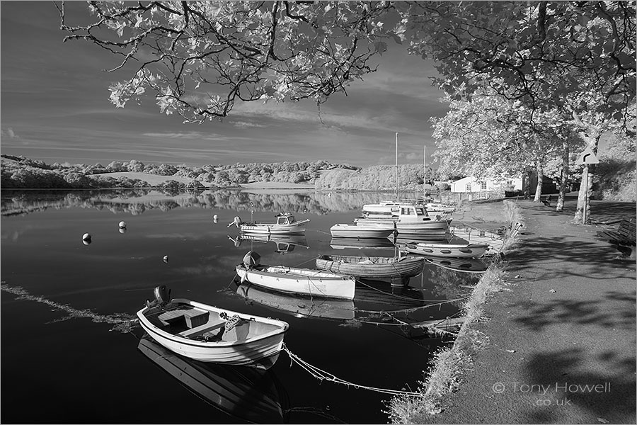 Boats, Truro River (infrared)