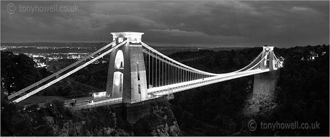 Clifton Suspension Bridge Black and White