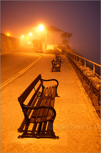Benches, Fog, St Ives