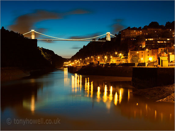 Clifton Suspension Bridge, Avon Gorge, Dusk