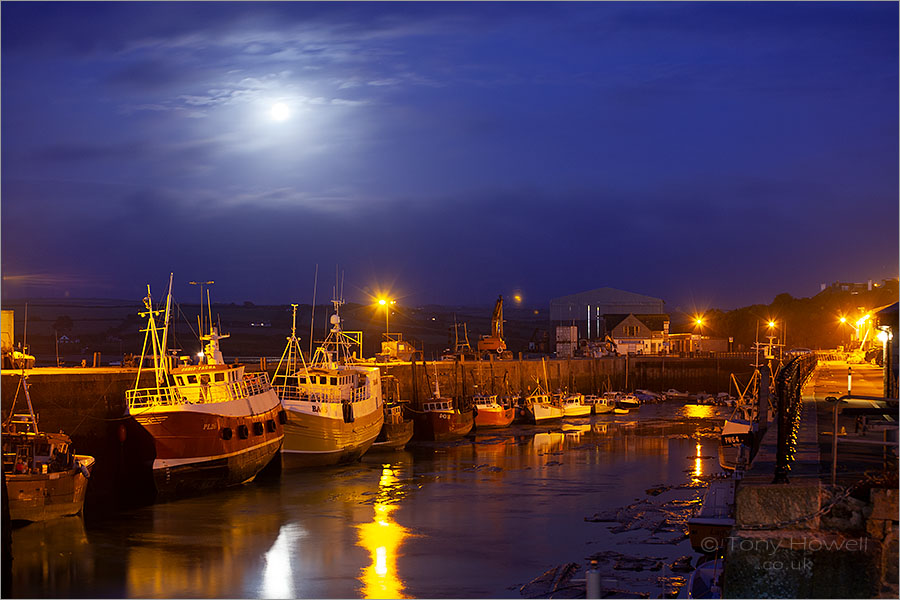 Padstow Harbour, Full Moon, Trawlers